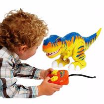 Dinosaurio A Control Remoto Con Luz Y Sonido
