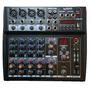 Consola Mixer Soundxtreme 8 Canales Usb 16fx Phantom La Roca