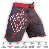 Bermuda Stretch Cubik (gris/rojo) Crossfit Running Fitness
