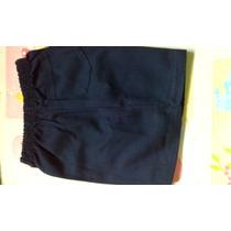 Short Colegiales Reforzados C/bolsillo Azul