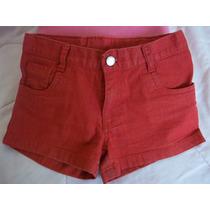 Mimo Girls Mini Short Jean Rojo Ropa Nena Microcentro
