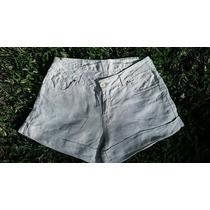 Short Bermuda Pantalon Corto Lino Beige Botamanga Talle 42