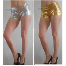 Espectacular Short Engomado-lentejuelas,plateado,negro,dorad