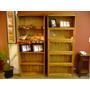 Biblioteca De Roble Tipo Thompson 3 Módulos ####