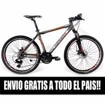 Bicicletas Mountain Mega Envio S/cargo, Alum, Shimano Disco!