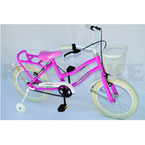 Bicicleta Niña Dama Full Infantil Rod 16 Paseo Canastito