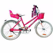 Bicicleta Playera Halley R20 Nena Niña 19333 Canasto Porta