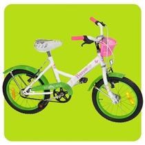 Bicicleta Paseo Nena Newton Princess Canasto Rodado 20 Niñas