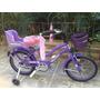 Bicicleta Violetta Canasto Y Sillita - Rodado 14