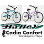 Bicicleta Playera 24 Cuadro Varon Mujer Halley 19334 19336