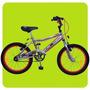 Bicicleta Cross Newton Bmx Cromada Rodado 16 Infantil Niños