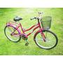 Bicicleta Paseo Rodadod 26 / 24 Con Canasto Y Porta Equipaje