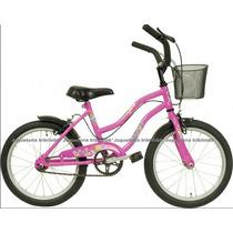 Bicicletas Playera T/ Barbie Rodado 16 Con Canastita Liberty