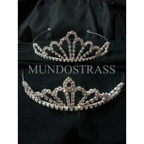 Coronas Tiaras Strass Novias Quinceañeras Princesas Plata