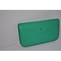 Billetera Cardon - 100% Cuero Verde - Divina-tipo Prune