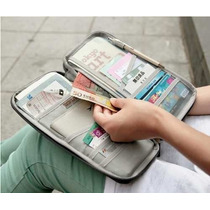 Organizador De Pasaportes Tarjetero Billetera Ideal Viajes