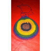 Monederito Tejido Crochet Onda Hippie