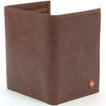 Billeteras Alpine Swiss Classic Trifold (cuero Real) Marron