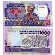 Billete De Madagascar 1.000 Francos Año 1988/93 Sin Circular