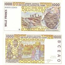 Billete Mali 1000 Francos Año 2001 Sin Circular