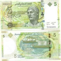 Billete Tunez 5 Dinars Del Año 2013 Sin Circular