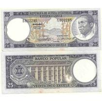 Billete Guinea Ecuatorial 25 Francos Año 1975 Sin Circular-