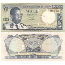 Billete Del Congo 1000 Francos Año 1964 Catalogo 200 Dolares