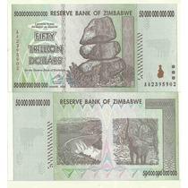 Billete Zimbawe 50.000.000.000.000 De Dolares Sin Circular