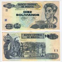  hds  Bolivia 10 Bolivianos Ley 1986