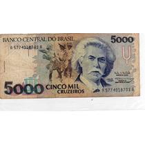 Billete Brasil 5000 Cruzeiros