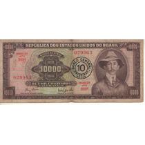 Brasil Billete 10 Cruzeiros Sobre 10.000 Crs. Año 1967 P190a