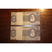 Lote 2 Billetes De 10 Cruzeiros