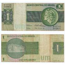 Brasil, Billete De 1 Cruzeiro, Decada Del 70