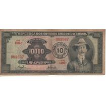 Brasil Billete 10 Cruzeiros Sobre 10.000 Crs. Año 1967 P189b