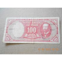 Billete 100 Pesos 10 Centesimos De Escudo Chile