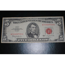 Billete 5 U$s Sello Rojo Año 1963