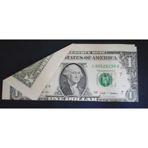 Bbillete De 1 Dolar Con * Error De Corte*s/c