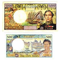 Billetes De Polinesia Francesa (tahiti) Muy Raros*¨mas Yapa*