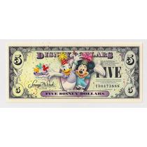 Eeuu Disney Billete 5 Dolares Año 2009 Sin Circular!!!