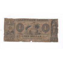 Ee.uu. Antigüo Dolar Confederado Bank Of Georgia De 1859