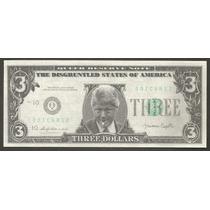 Estados Unidos Billete Fantasía De U$s 3.00