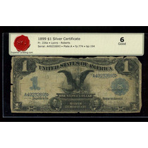 Billete Antiguo 1 Dolar Ee.uu.1899 Black Eagle. Certificado