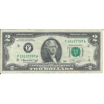 Billete 2 Dólares Atlanta, Ga 1976