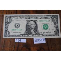 Billete De 1 Dolar Circulado Letra *a* Boston