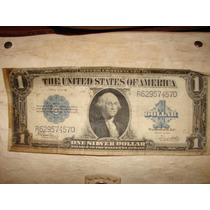 Antiguo Billete De 1 Dolar - Eeuu - Sello Azul -