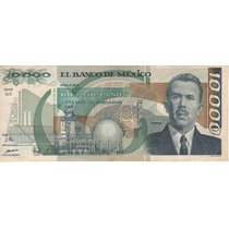 Mexico Billete De 10.000 Pesos Año 1991 Pick 90d Muy Bueno++