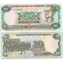 Billete Nicaragua De 10 Cordobas Del Año 1985 Sin Circular