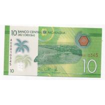 Nicaragua Billete Plastico 10 Cordobas Sin Circular