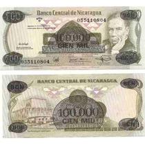 Billete Nicaragua 100.000 Cordobas Del Año 1987 Sin Circular