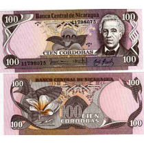 Billete Nicaragua 100 Cordobas Año 1984 Sin Circular